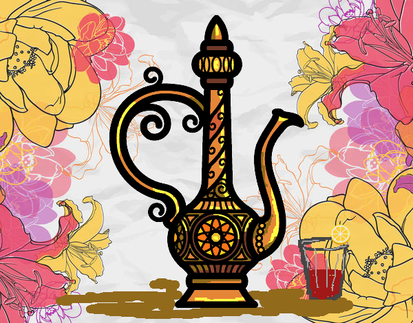 Coloring page Morroco Teapot  painted byFranka