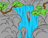 Coloring page Waterfall painted byRoseLuna