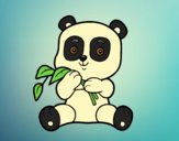 Coloring page A panda painted byAnia