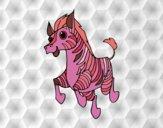 Coloring page A Zebra painted byfawnamama1