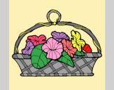 Coloring page Basket of flowers 5 painted byAnia