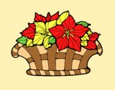 Coloring page Basket of flowers 8 painted byAnia