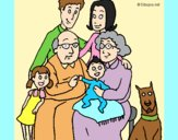 Coloring page Family  painted byAnia