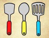 Coloring page spatulas painted byAnia
