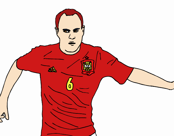 Iniesta with the Spain national football team
