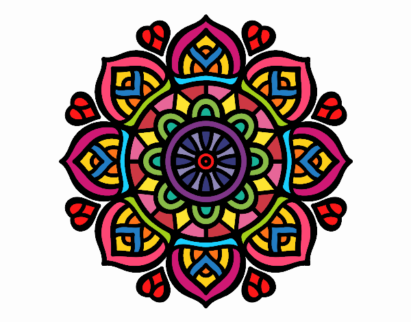 Coloring page Mandala for mental concentration painted byFABBI