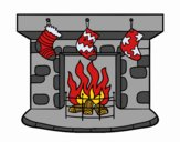 Coloring page Christmas chimney painted byKhaos006