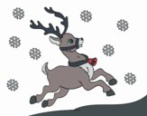 Coloring page Christmas reindeer painted byKhaos006
