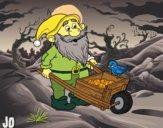 Dwarf with wheelbarrow