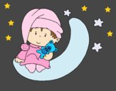 Coloring page Baby painted byAnia