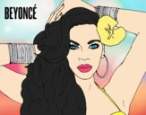 Coloring page Beyoncé painted byAnia