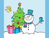 Coloring page Christmas II painted byAnia