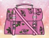 Coloring page Flowered handbag painted byAnia