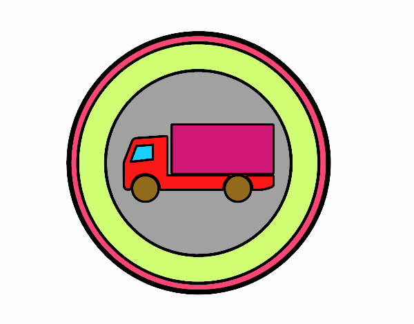 Forbidden entry to vehicles for transport of goods