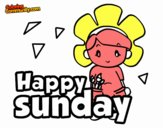 Coloring page Happy sunday painted byvagobaskan