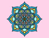 Coloring page Mandala flower of fire painted byAnia