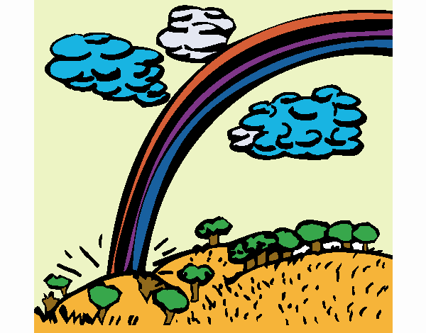 Coloring page Rainbow painted byKhaos006