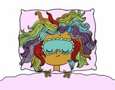 Coloring page Sleeping girl painted bymicheleof4