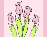 Coloring page Tulips painted byAnia