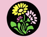 Coloring page Floral print painted byAnia