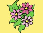 Coloring page Little flowers painted byAnia