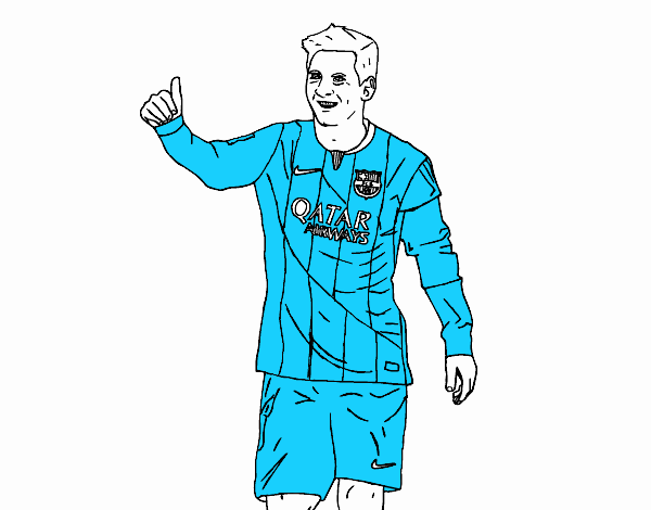 Colored page Messi Barça painted by User not registered