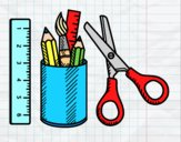 Coloring page The School equipment painted byAnia