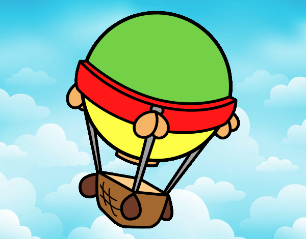 Coloring page Balloon aircraft painted byAnia