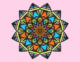 Coloring page Fruit mandala painted byAnia