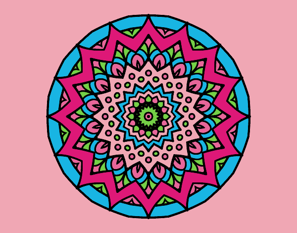 Coloring page Growing mandala painted byAnia