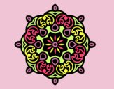 Coloring page Mandala cloud painted byAnia