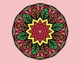 Coloring page Mandala of nature painted byAnia