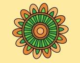 Coloring page Mandala solar painted byAnia