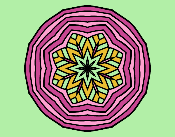 Coloring page Overhead mandala painted byAnia