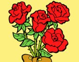 Coloring page Bunch of roses painted bylorna