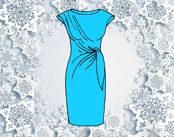 Coloring page Elegant dress painted bylorna
