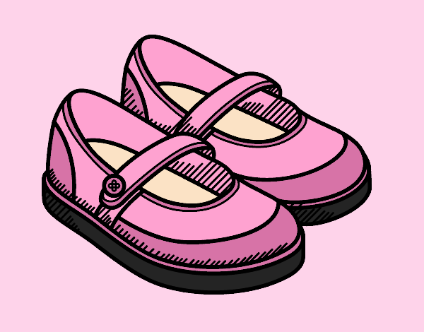 Coloring page Girl shoes painted bylorna