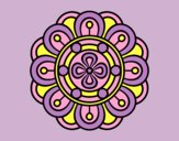 Coloring page Mandala creative flower painted bylorna