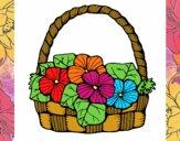 Basket of flowers 6