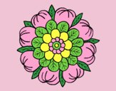 Coloring page Floral Mandala painted bylorna