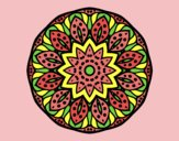 Coloring page Mandala of nature painted bylorna