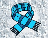 Coloring page Striped scarf painted bylorna