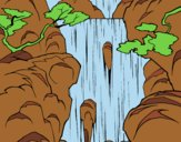 Coloring page Waterfall painted bylorna