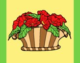 Coloring page Basket of flowers 9 painted bylorna