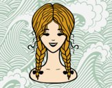 hairstyle: two braids
