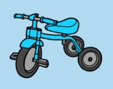 Coloring page Tricycle for children painted bylorna