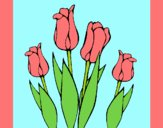 Coloring page Tulips painted bylorna