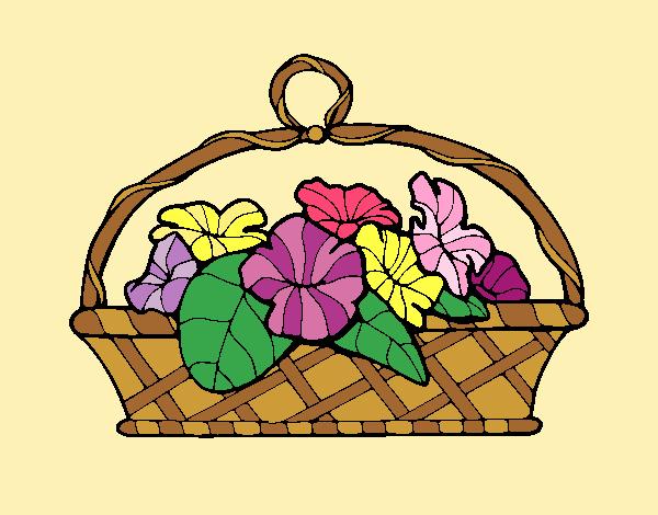 Basket of flowers 5