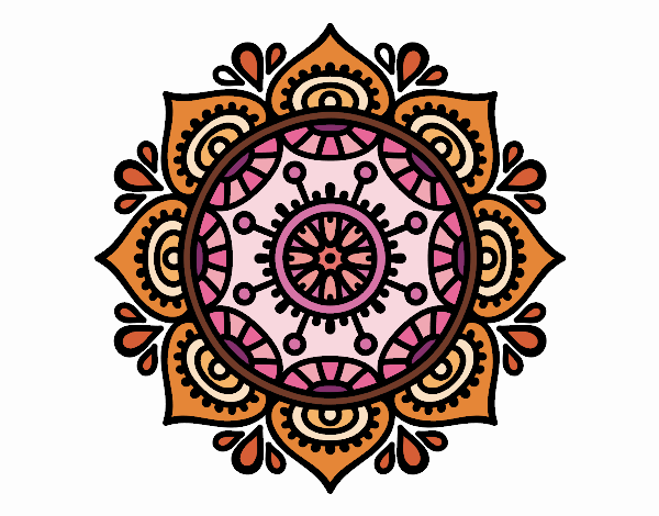 Coloring page Mandala to relax painted byAshlee