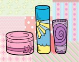 Coloring page Body creams painted bylorna
